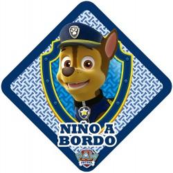 Patrulla Canina Pegatina Niño a Bordo , Azul