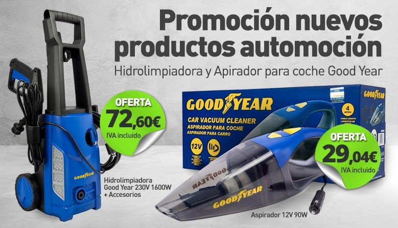 Nueva Hidrolimpiadora y Aspirador Good Year